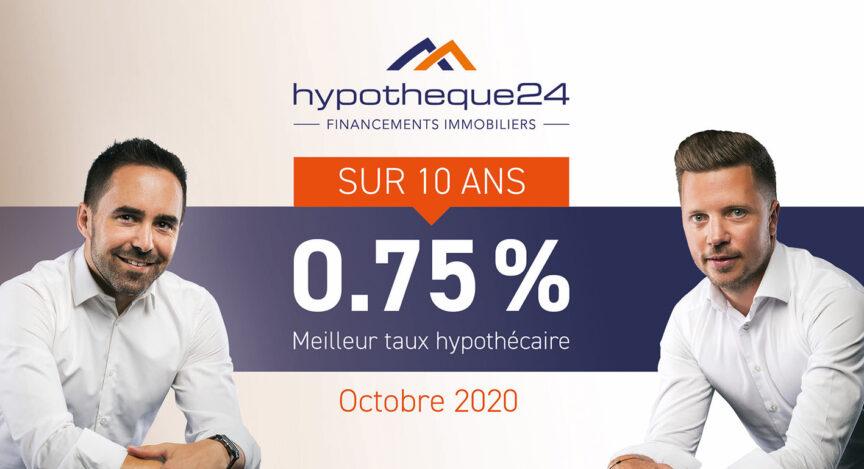 Taux octobre 2020 hypotheque24